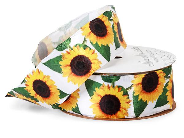 "Sunflower Fields Wired Ribbon, 1-1/2"" x 10 yards"
