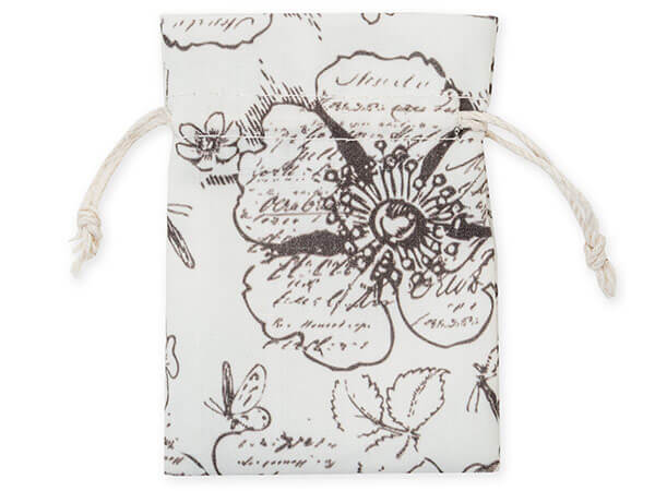 "**Floral Countryside Favor Bags, X-Small 3x4"", 12 Pack"