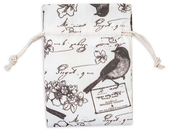 """**Birds Melody Favor Bags, X-Small 3x4"""", 12 Pack"""