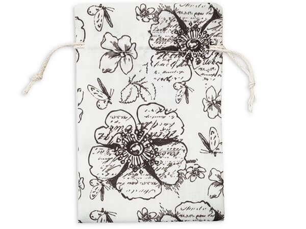 "*Floral Countryside Favor Bags, Small 4x6"", 12 Pack"