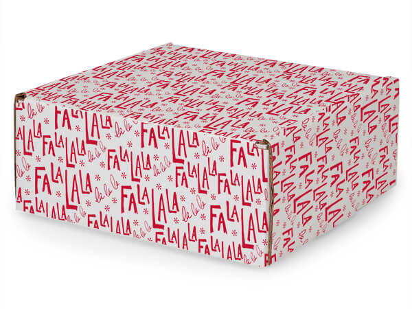 "Falala Tab Lock Mailer Boxes, 8x8x3.5"", 25 Pack"