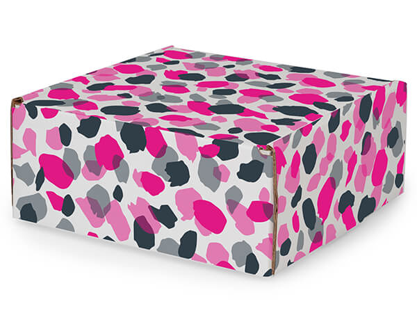 """Jungle Spots Tab Lock Mailer Boxes, 8x8x3.5"""", 25 Pack"""