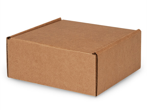 "Brown Kraft Tab Lock Mailer Boxes, 8x8x3.5"", 50 Pack"