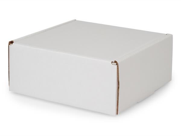 """White Kraft Tab Lock Mailer Boxes, 8x8x3.5"""", 50 Pack"""