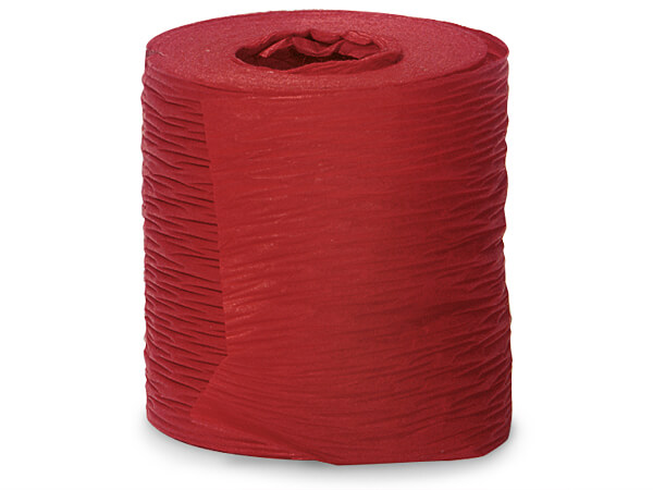 """Paper Red Crinkle Ribbon 1-1/2""""x25 yds"""