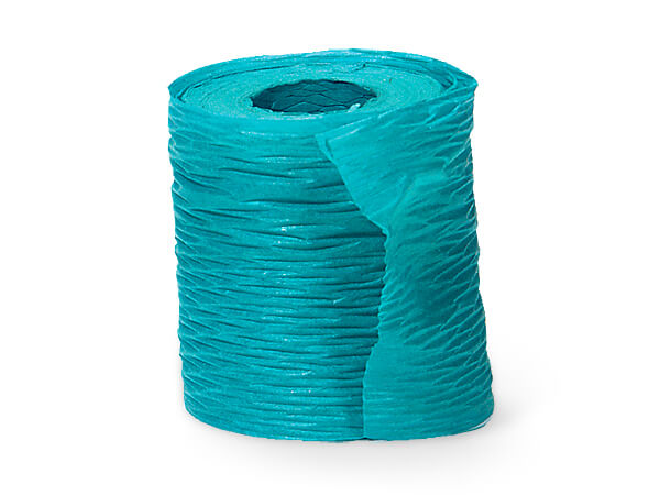 "*Paper Turquoise Crinkle Ribbon 1-1/2""x25 yds"