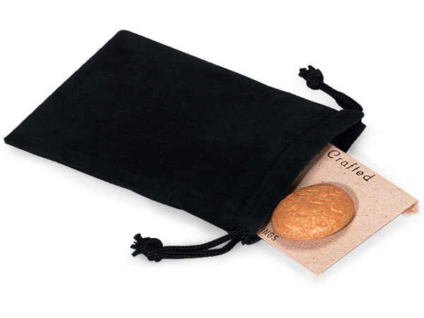 "Black Velour Jewelry Bags with Drawstrings, 3x4"", 100 Pack"