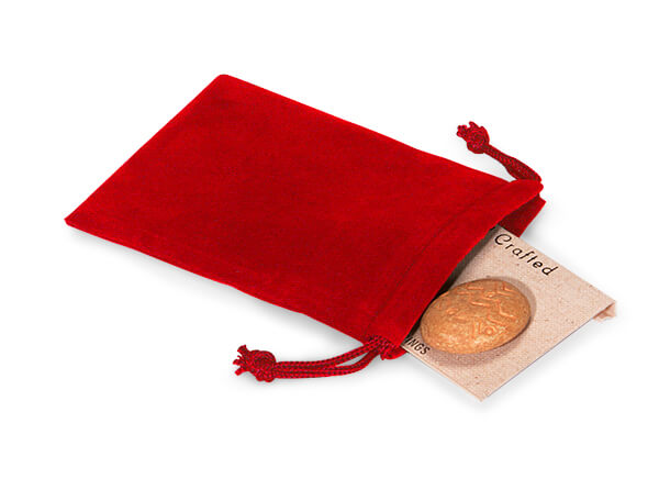 "*Red Velour Jewelry Pouches with Drawstrings, 3x4"", 25 Pack"