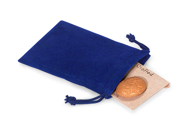 "*Blue Velour Jewelry Pouches with Drawstrings, 3x4"", 25 Pack"