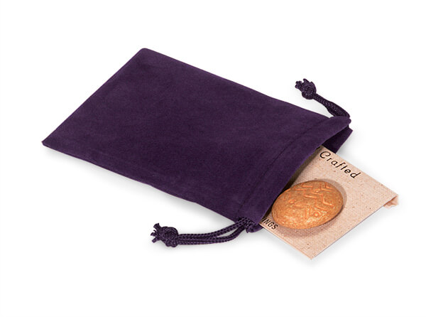 "*Grape Velour Jewelry Pouches with Drawstrings, 3x4"", 25 Pack"