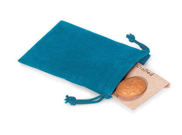 """*Robins Egg Velour Jewelry Pouches with Drawstrings, 3x4"""", 25 Pack"""
