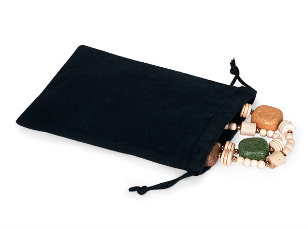 "*Black Velour Jewelry Pouches with Drawstrings, 4x5.5"", 25 Pack"