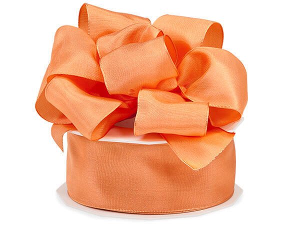 "*Orange Tango Wired Taffeta 1-1/2""x20 yds"