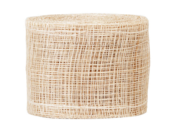 "Natural Sinamay Mesh Ribbon 2"" x 10 yds"