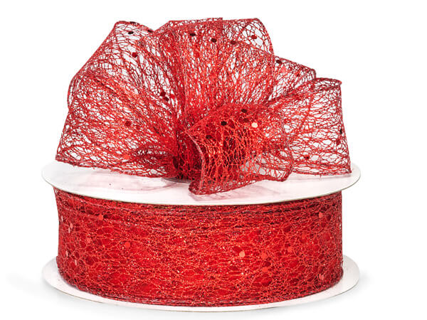 Wired Metallic Red Mesh