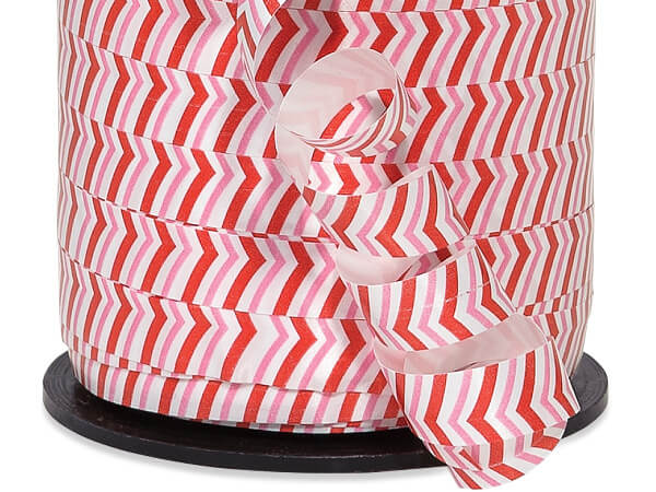 "Peppermint Stripe Curling Ribbon 3/8""x250 yds 100% Polypropylene"
