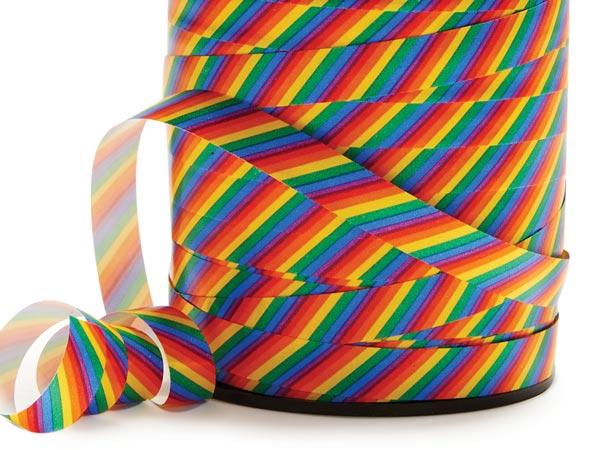 """Rainbow Treasure Curling Ribbon 3/8""""x250 yards"""