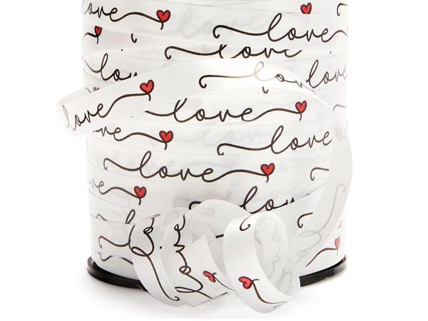 "Love Heart Curling Ribbon 3/8""x250 yards"