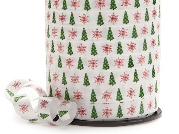 "Wonderland Trees Curling Ribbon 3/8""x250 yards"