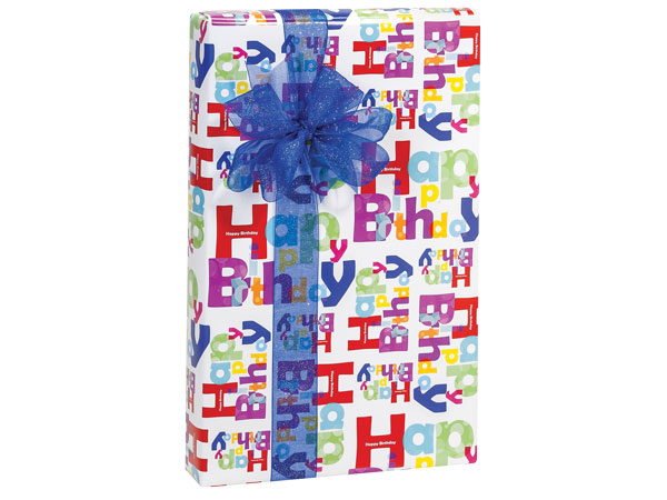"Another Birthday 24""x417' Roll Gift Wrap"