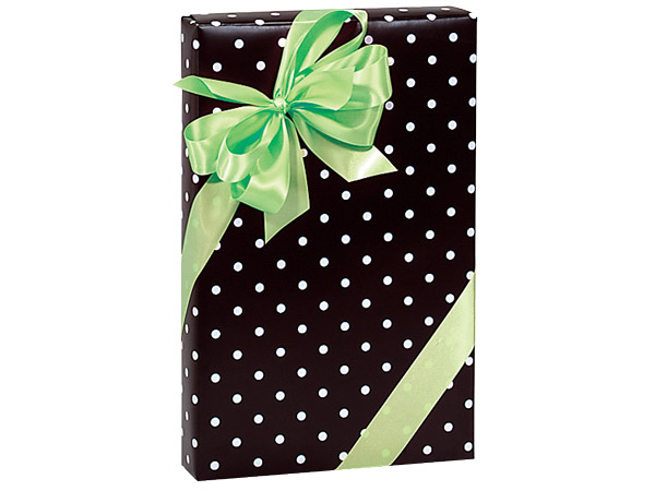 "Black Rendezvous Dots 24""x85' Gift Wrap"