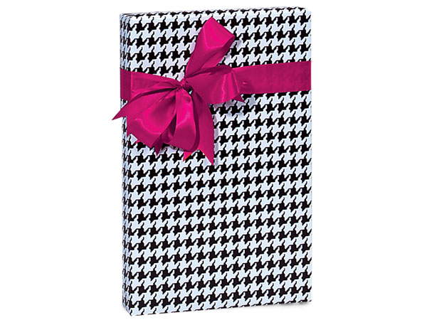 "Houndstooth Black Wrapping Paper 24""x417' Counter Roll"
