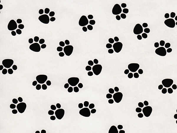 Animal Print Wrapping Paper Paw Prints 24x85 Nashville Wraps