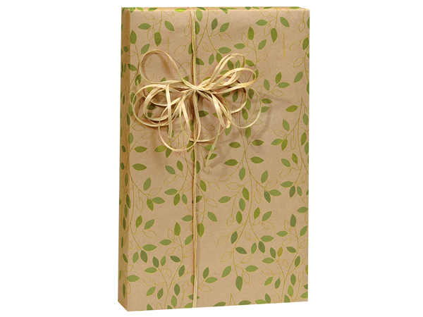 "Ivy Lane (Kraft) 24""x85' Roll Gift Wrap"