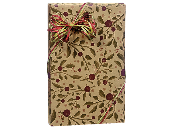 "Tuscan Harvest Kraft Wrapping Paper 24""x417' Counter Roll"