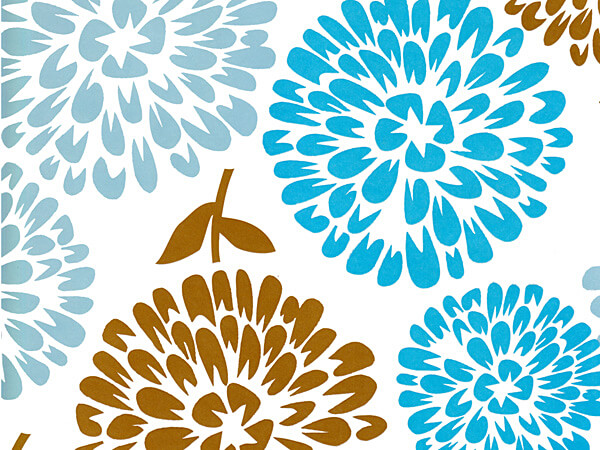 "Coastal Blooms 24"" x 85' Roll Gift Wrap"