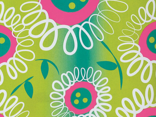"Celebration Flowers 24""x417' Gift Wrap Counter Roll"