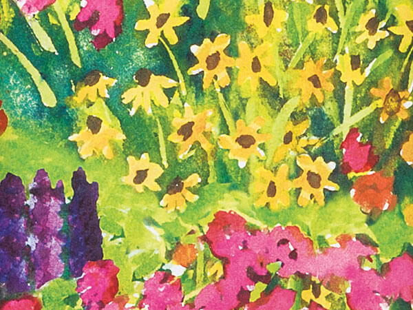 """Watercolor Garden Wrapping Paper 24""""x417' Counter Roll"""
