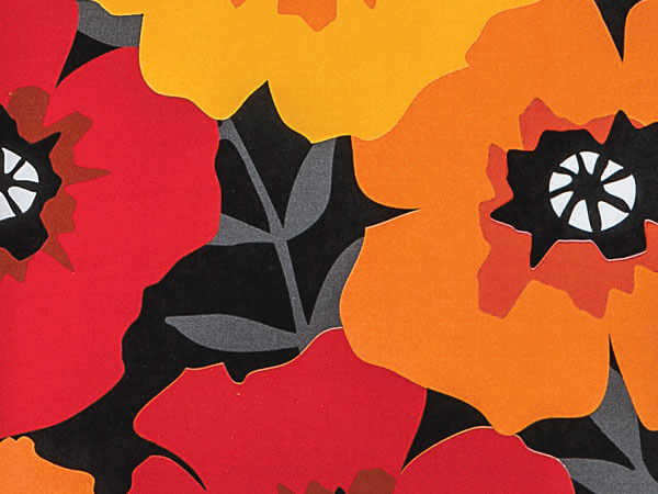 "Midnight Poppies 24""x417' Reversible Counter Roll"