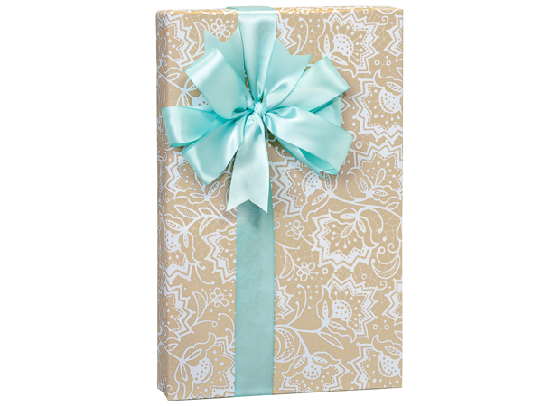 Lace Borders  Premium Recycled Kraft Gift Wrap