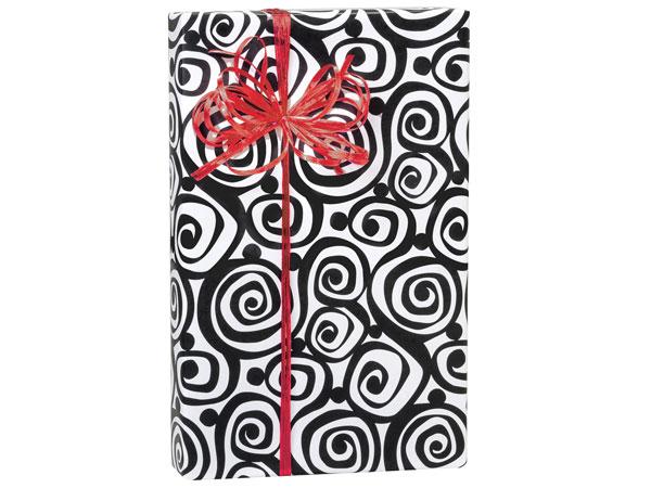"Bohemian Swirls 24""x417' Gift Wrap Roll"