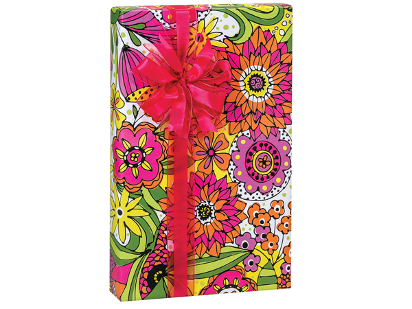 """Doodle Garden Wrapping Paper 24""""x85' Cutter Roll"""