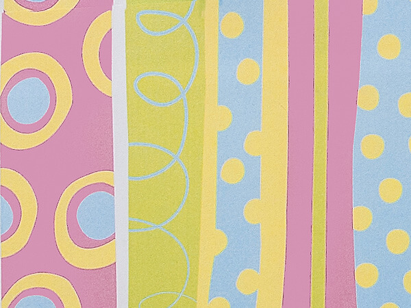 "Snuggle Stripe 24""x85' Roll Gift Wrap"