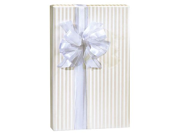 "Pearl Bliss Stripe 24""x417' Roll Gift Wrap"