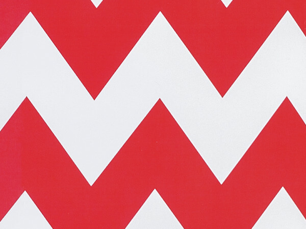 """Red Chevron Stripe Wrapping Paper 24""""x85' Cutter Roll"""