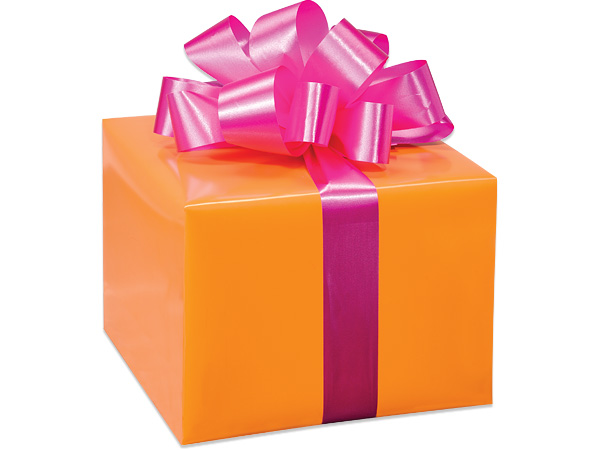 "*Orange Gloss 24""x 85' Roll Gift Wrap"