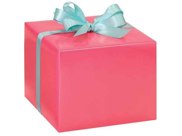 Coral Rose Gift Wrapping Paper