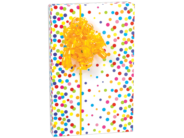 Rainbow Confetti Gift Wrapping Paper