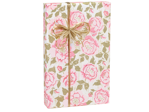 """Cottage Rose Garden Wrapping Paper 24""""x85' Cutter Roll"""