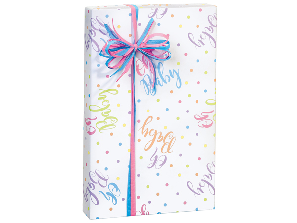 """Oh Baby! 24""""x85' Roll Gift Wrap"""