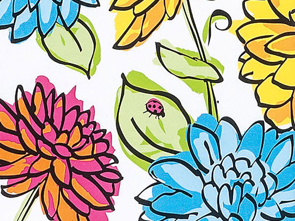 Vibrant Floral Gift Wrapping Paper