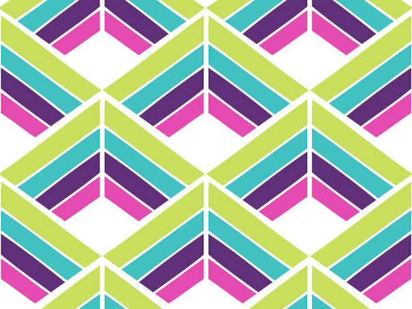 """Kaleidoscope Angles 24""""x417' Gift Wrap Counter Roll"""