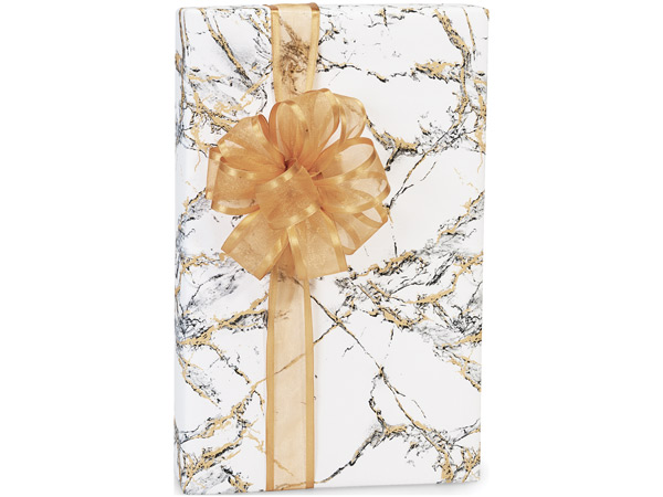 "Marble 24""x417' Recycled Gift Wrap Counter Roll"
