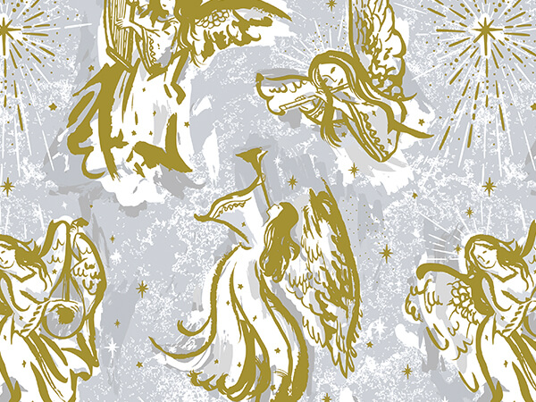 Musical Angels Premium Recycled Gift Wrap