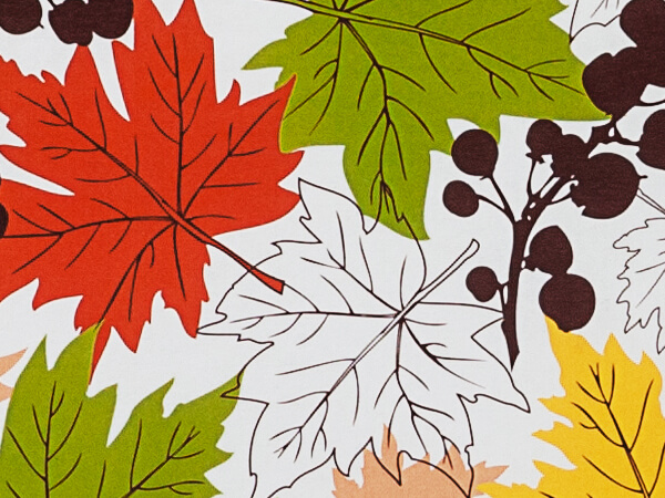 "Falling Leaves 24""x417' Recycled Gift Wrap Counter Roll"
