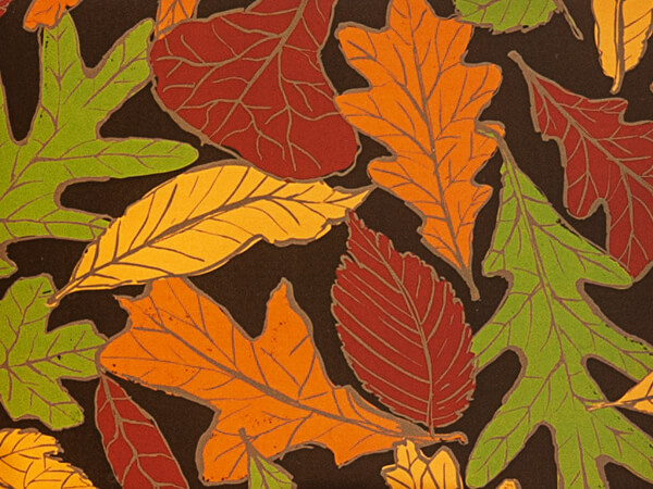 "Autumn Leaves 24""x85' Recycled Gift Wrap Cutter Box"